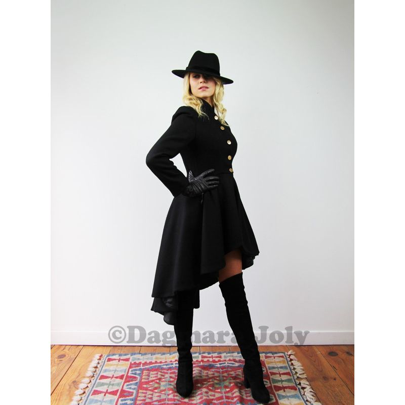 Womens high low coat- Dagmara Joly!