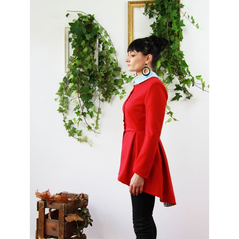 Womens red peplum jacket