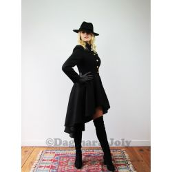 High low wool coat