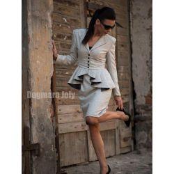 Tailleur grise  jupe droite