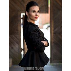 Veste noire à basque