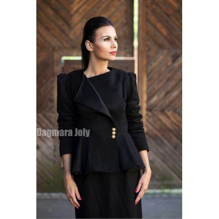 Women black peplum jacket