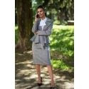 Two pieces gray tweed pencil skirt suit
