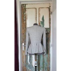 Women gray peplum jacket
