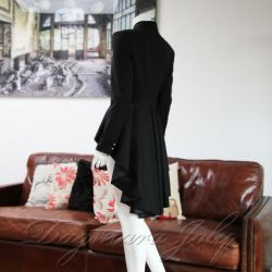 asymmetrical black jacket