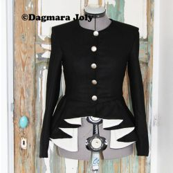 Black peplum ladies jacket