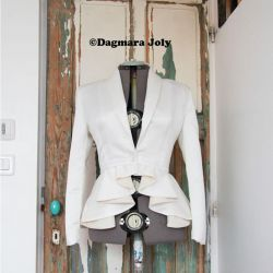 White peplum ladies jacket