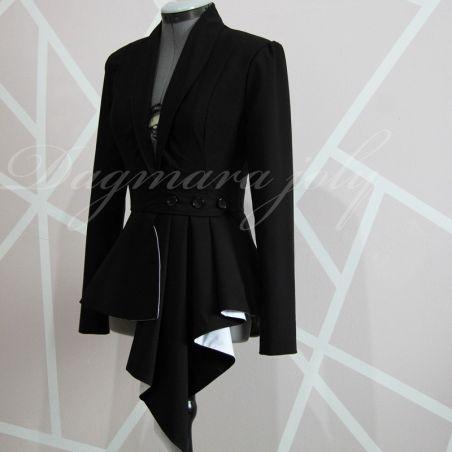 Asymmetric tuxedo jacket