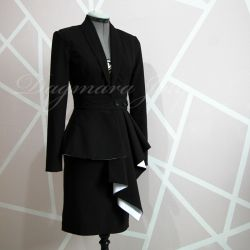Black skirt suit