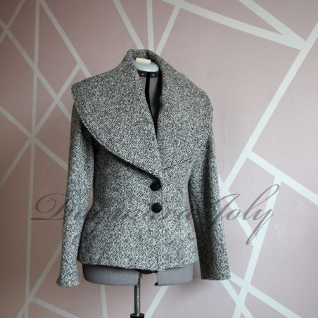 Shawl gray coat