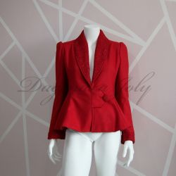 Red tuxedo ladies jacket