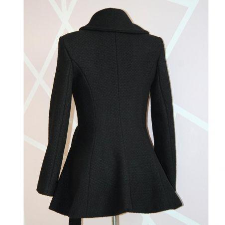 Black fit and flare ladies short coat