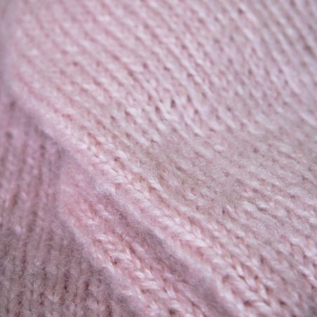 ONE OF A KIND Hand knit pink mohair sweater