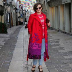 Manteau rouge long...