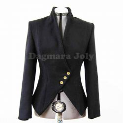 Black asymmetrical ladies jacket