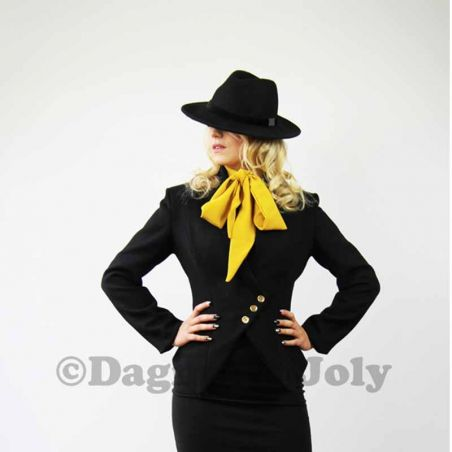 Women's black asymmetrical outdoor jacket