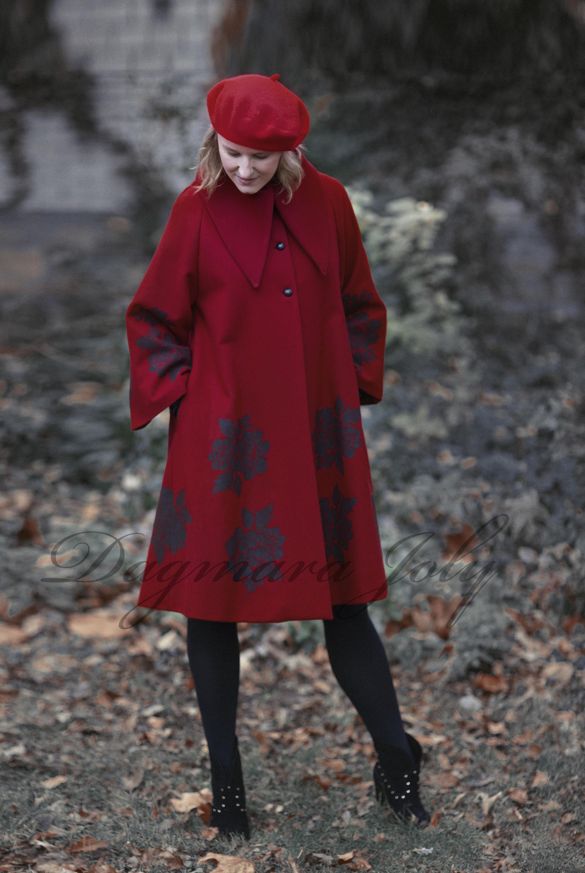 Ladies red coat