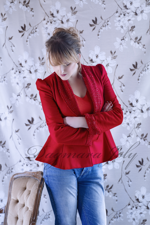 Veste rouge femme