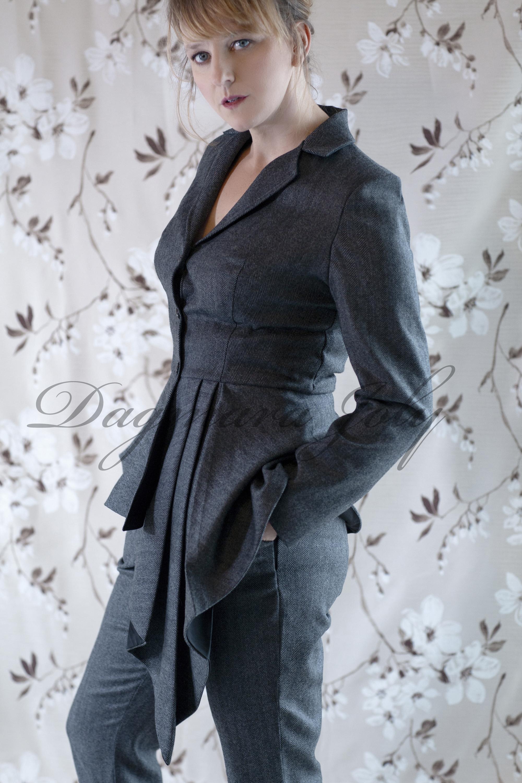 Gray peplum jacket