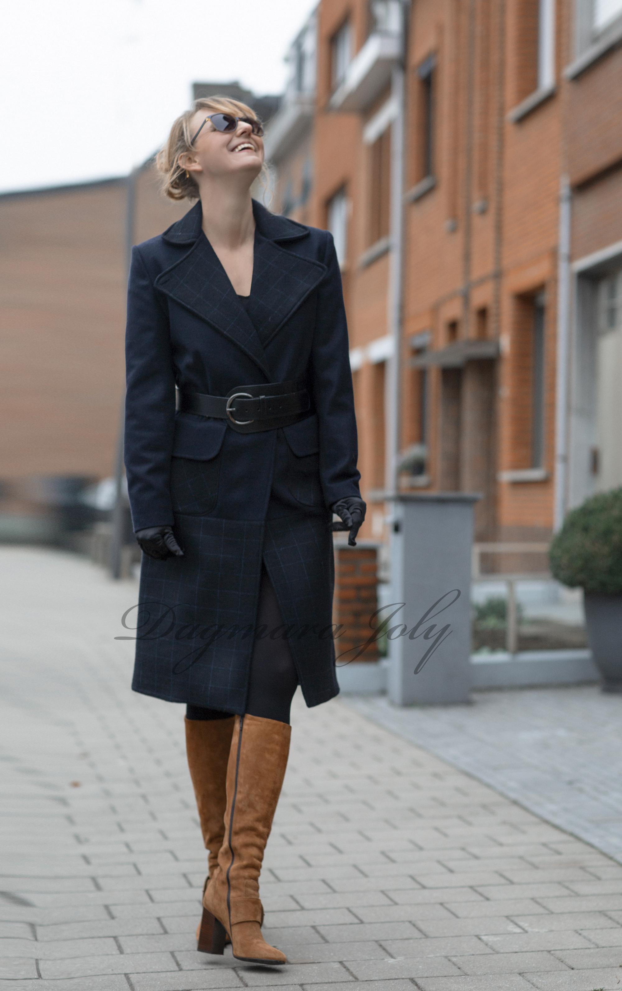 Manteau bleu marine femme