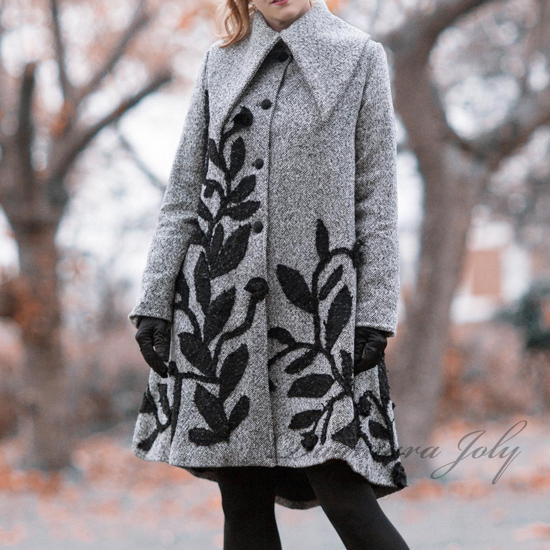 Gray ladies coat